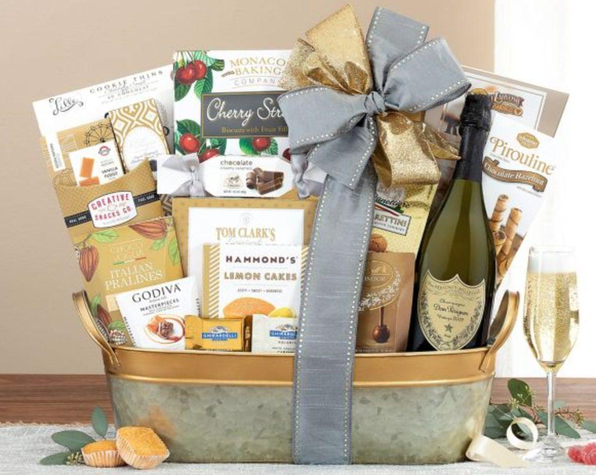 dom-perignon-champagne-gift-basket