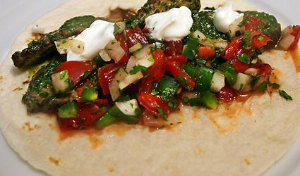 Steak taco with chimichurri