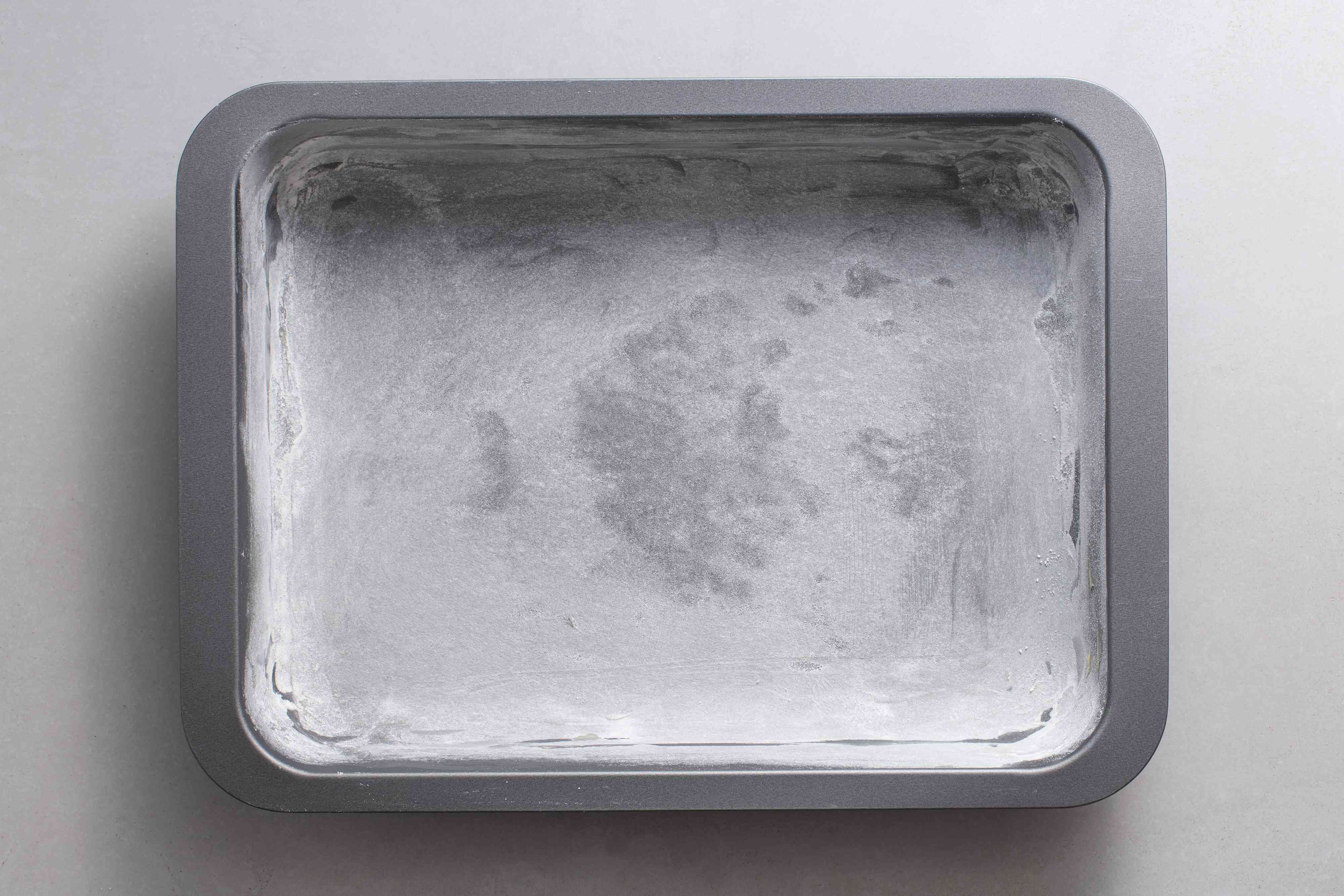 greased and floured baking pan