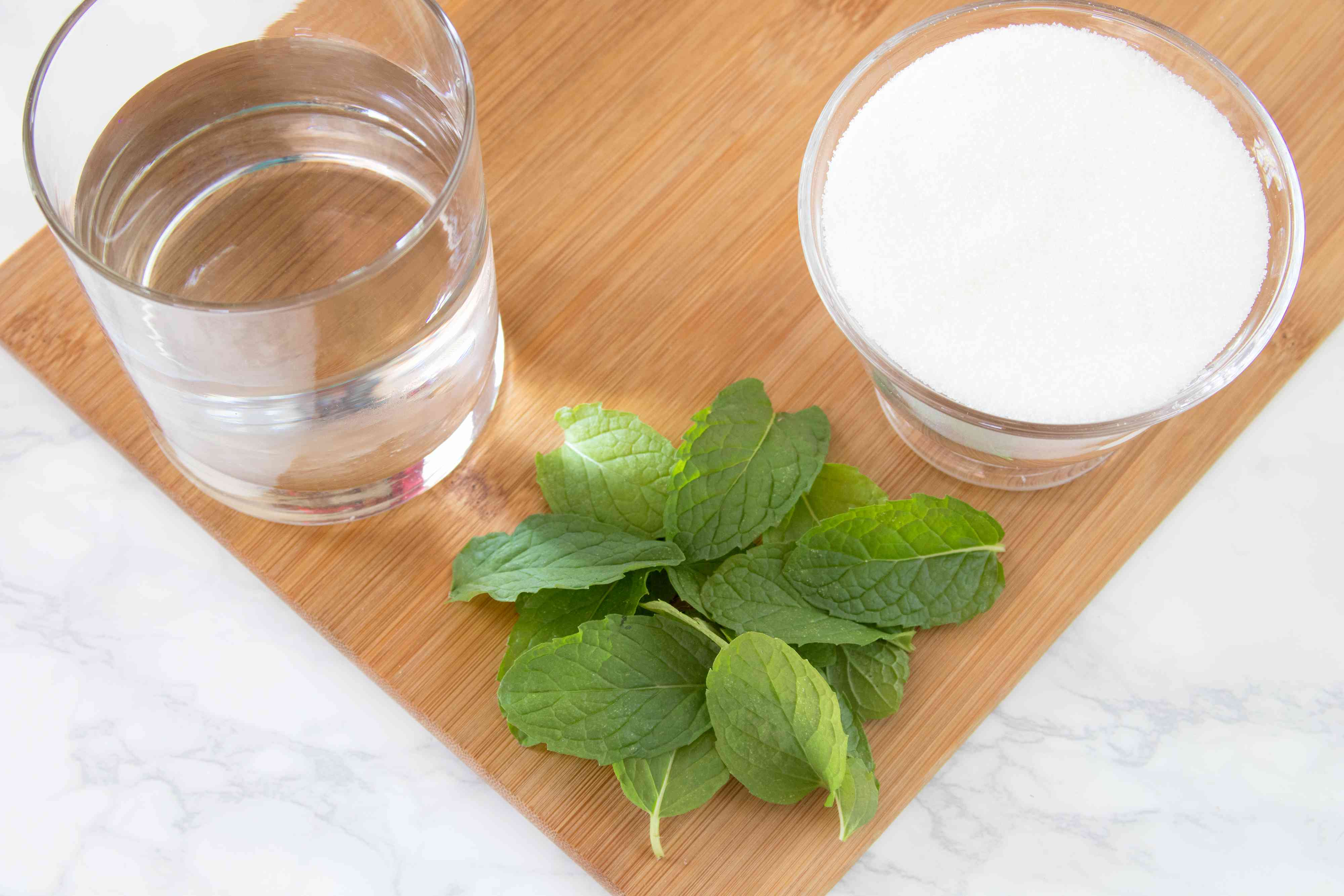 Ingredients for Mint Syrup