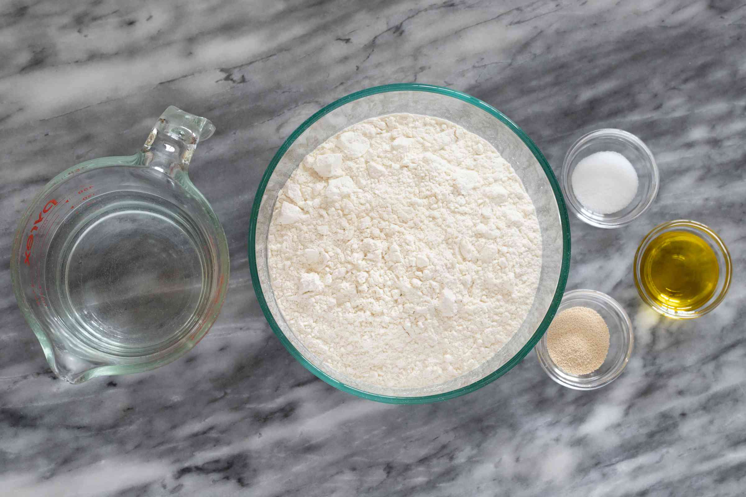 Ingredients for Instant Pot no-knead bread