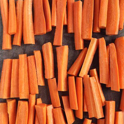 Batonnet cut carrots