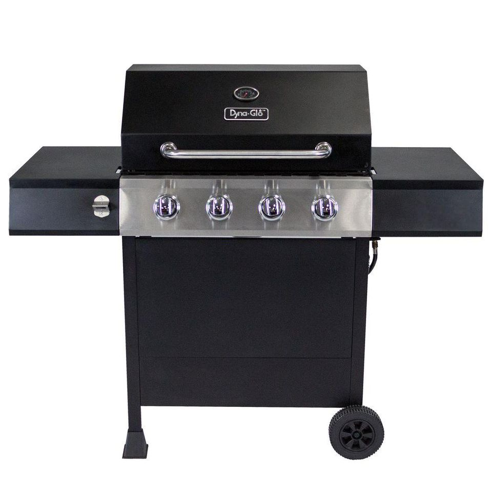 Dyna Glo 4-Burner Open Cart LP Gas Grill in Black