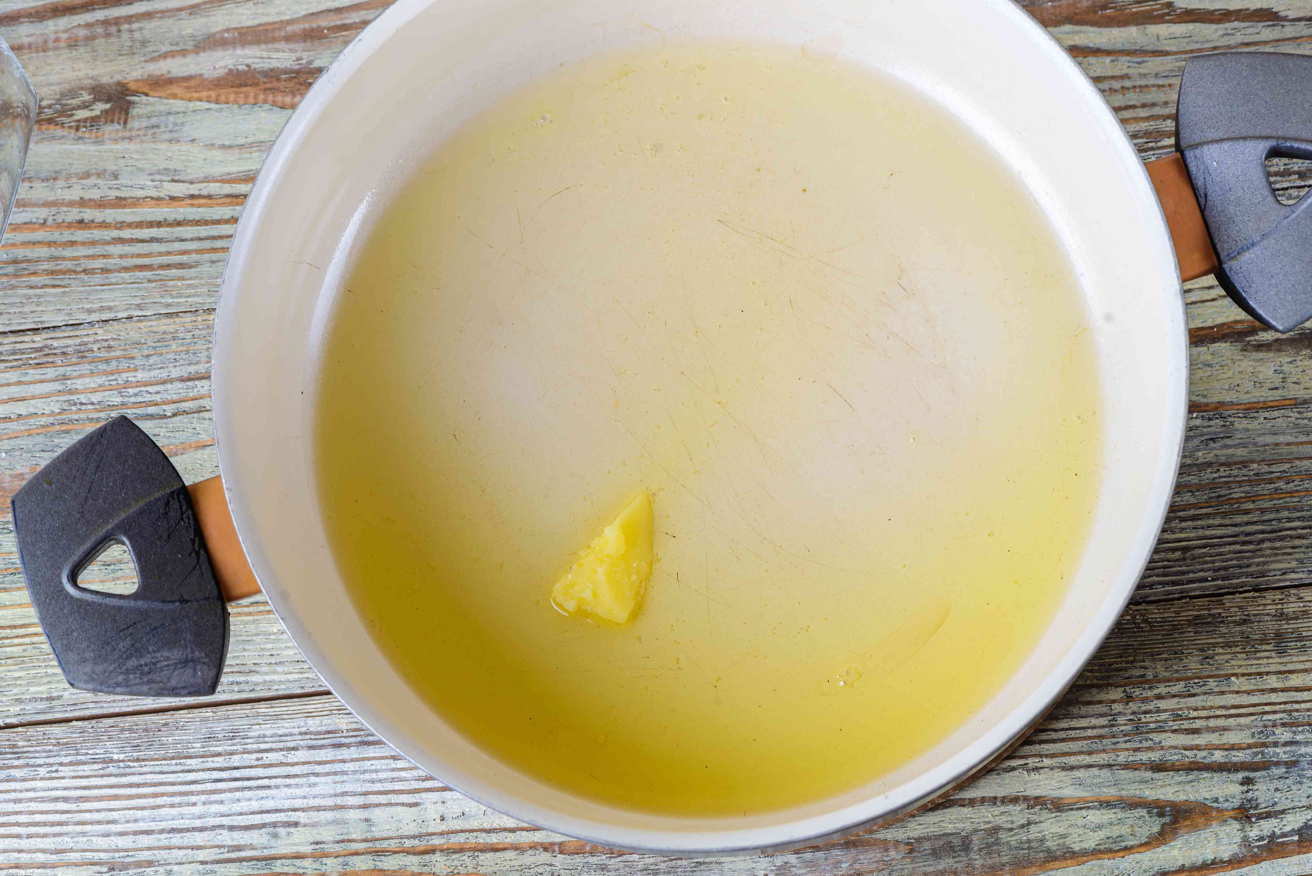 Heat clarified butter