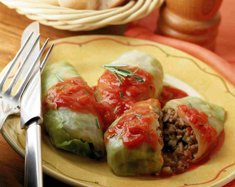 Czech Stuffed Cabbage Rolls