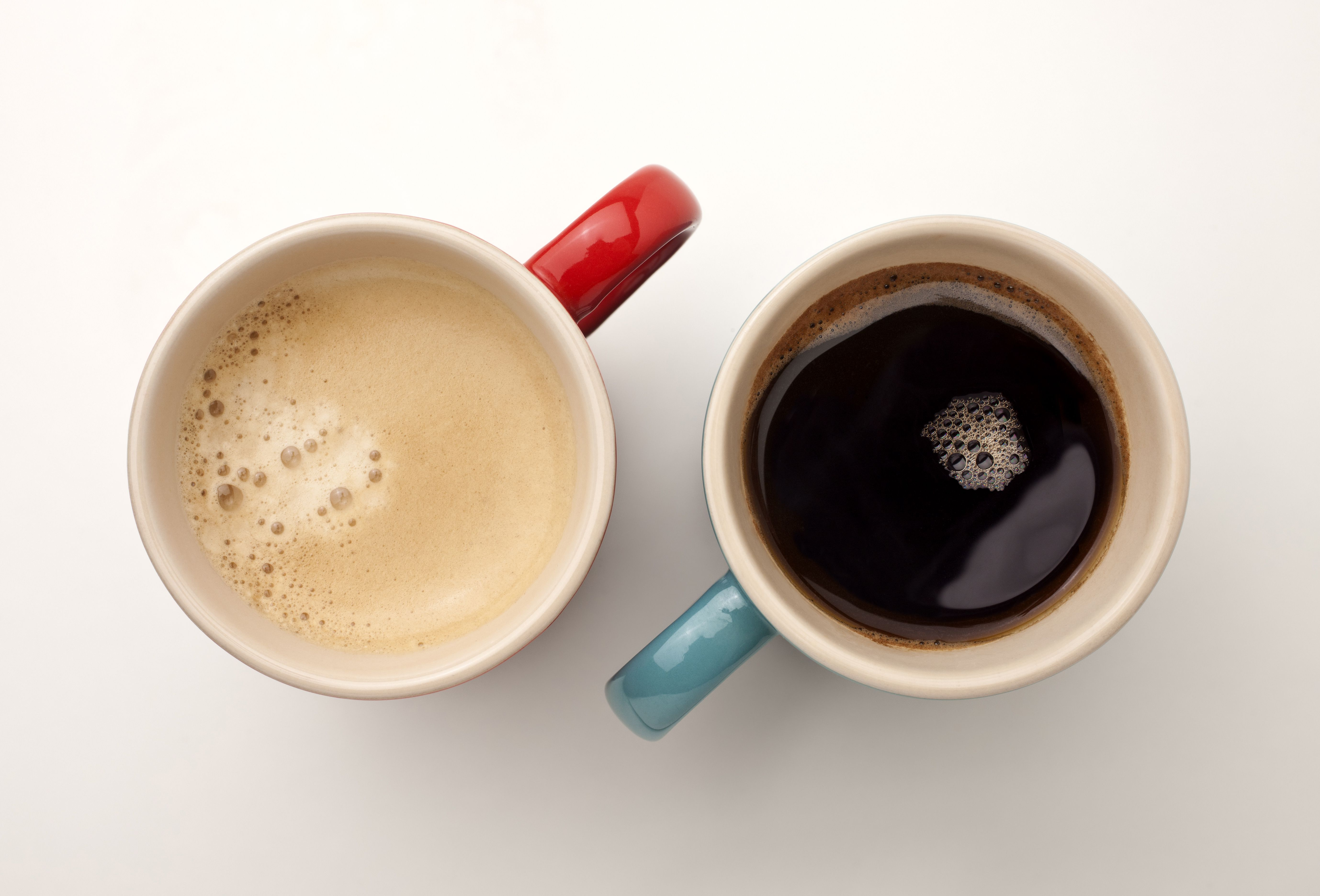 Black and white cups of coffee