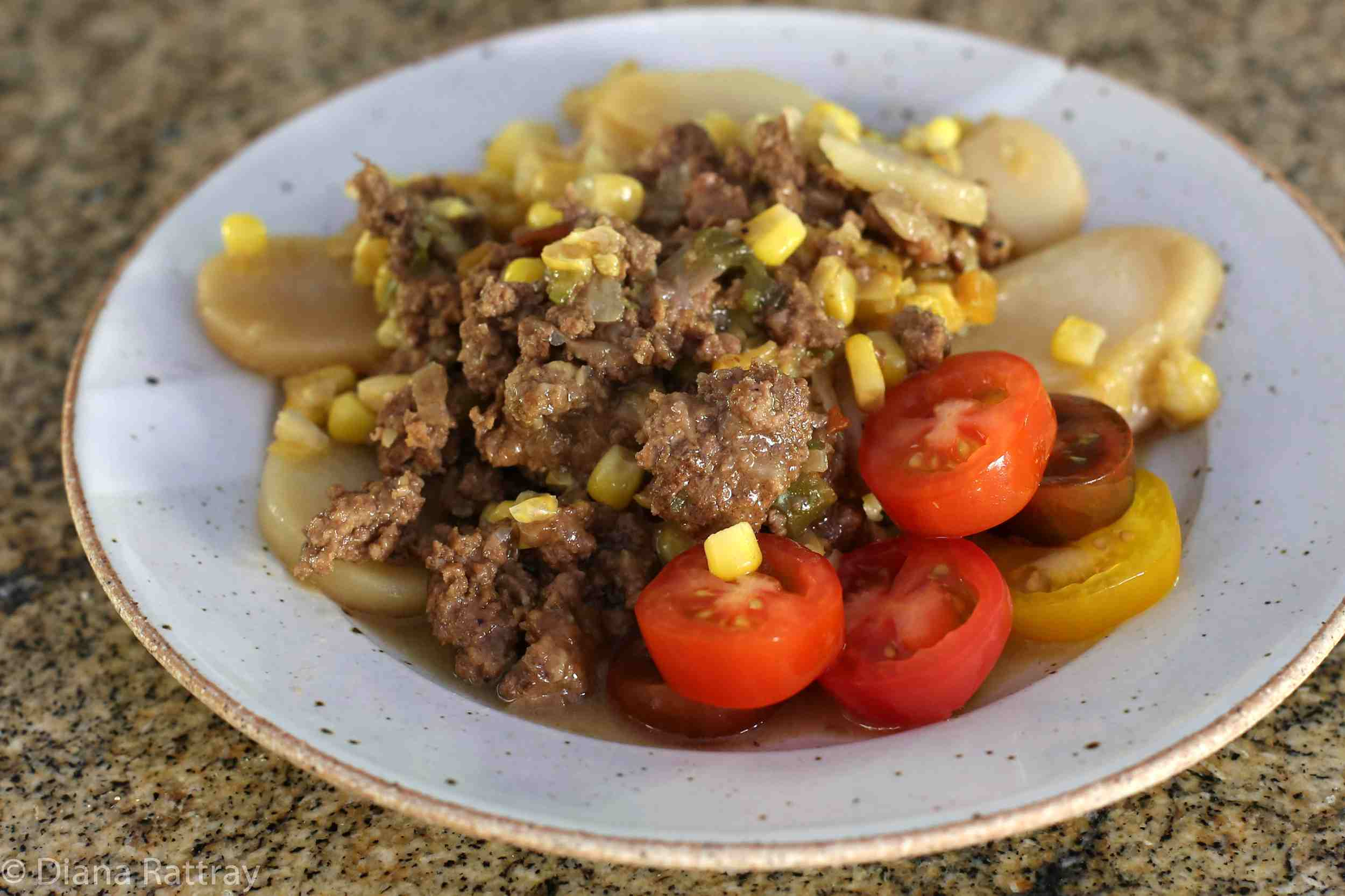 Chinese Pie With Ground Beef