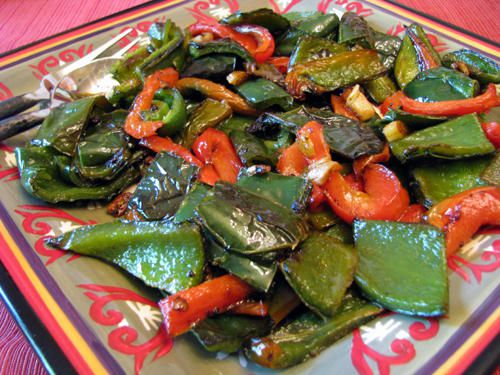 Spanish Fried Peppers & Onions for Tapas Dinner
