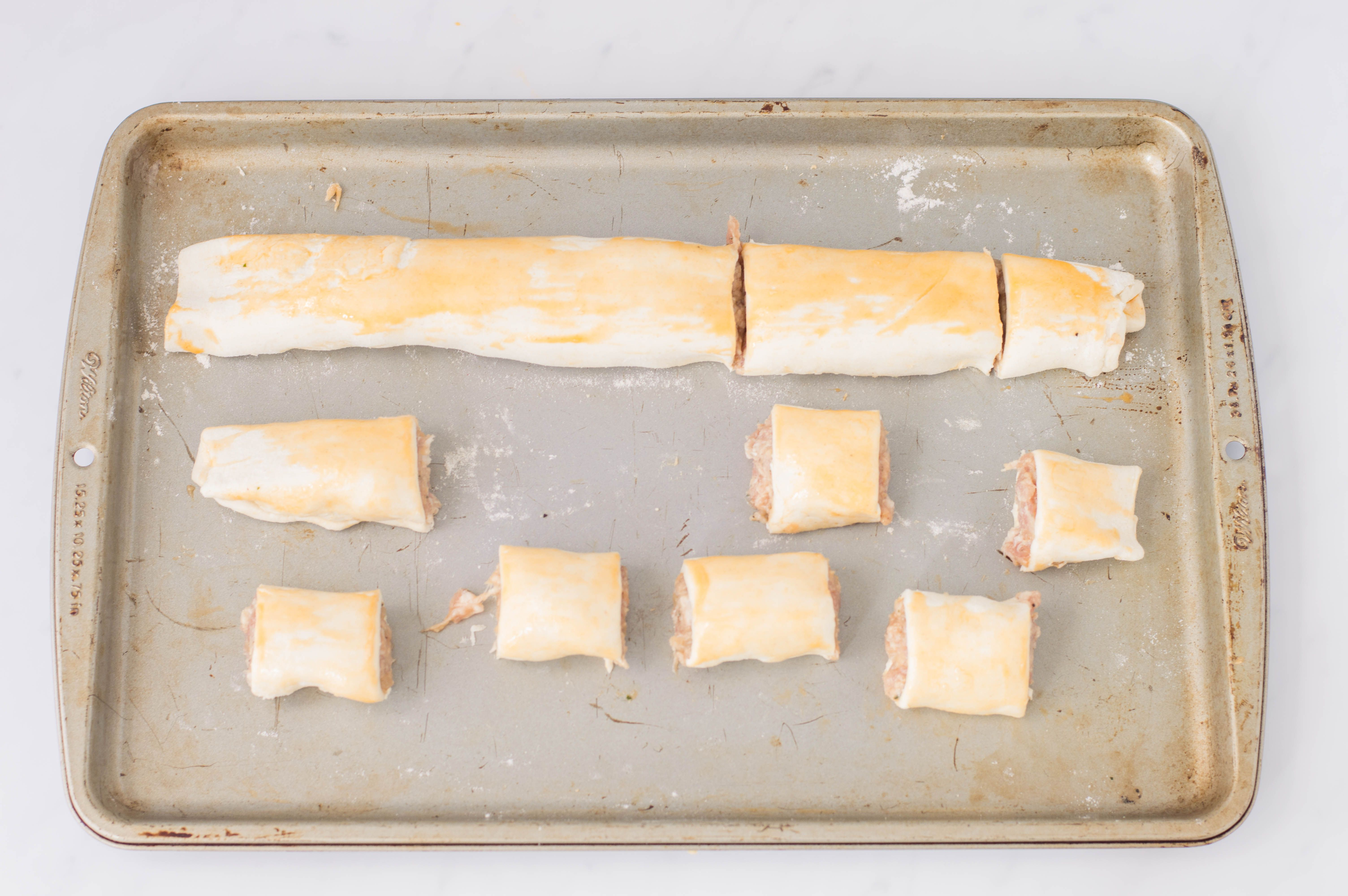 Cut pastry into sections