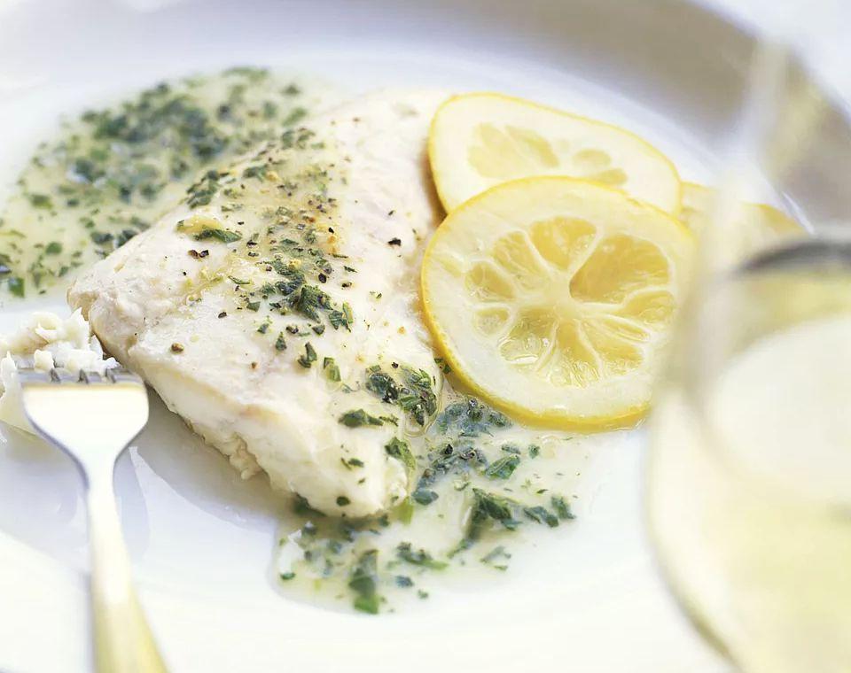 Fish With Tarragon Walnut Brown Butter Sauce