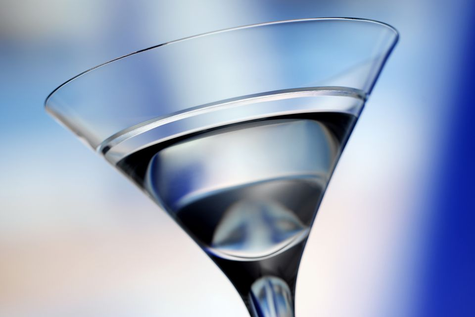 Vodka in martini glass