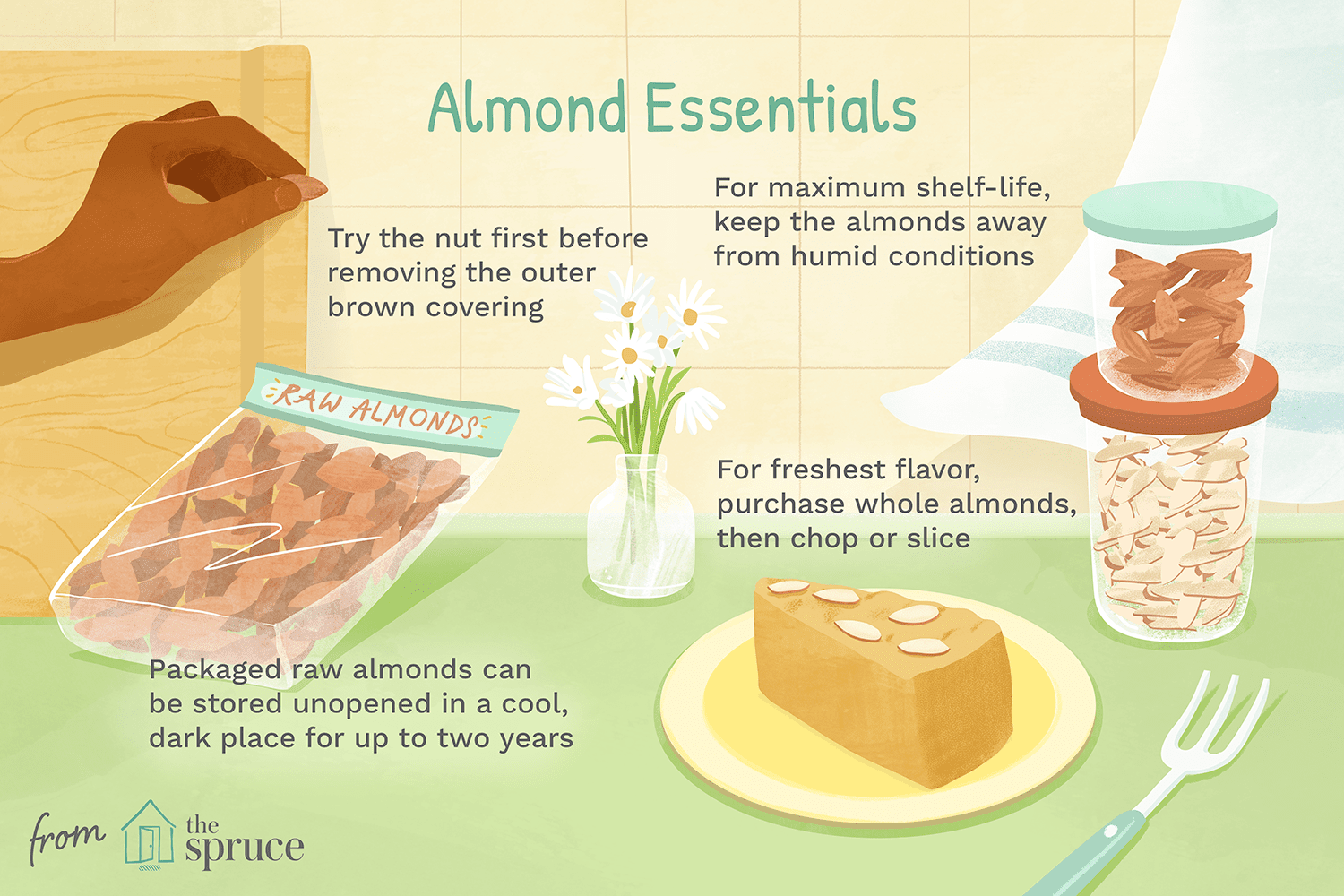 how to store almonds long term