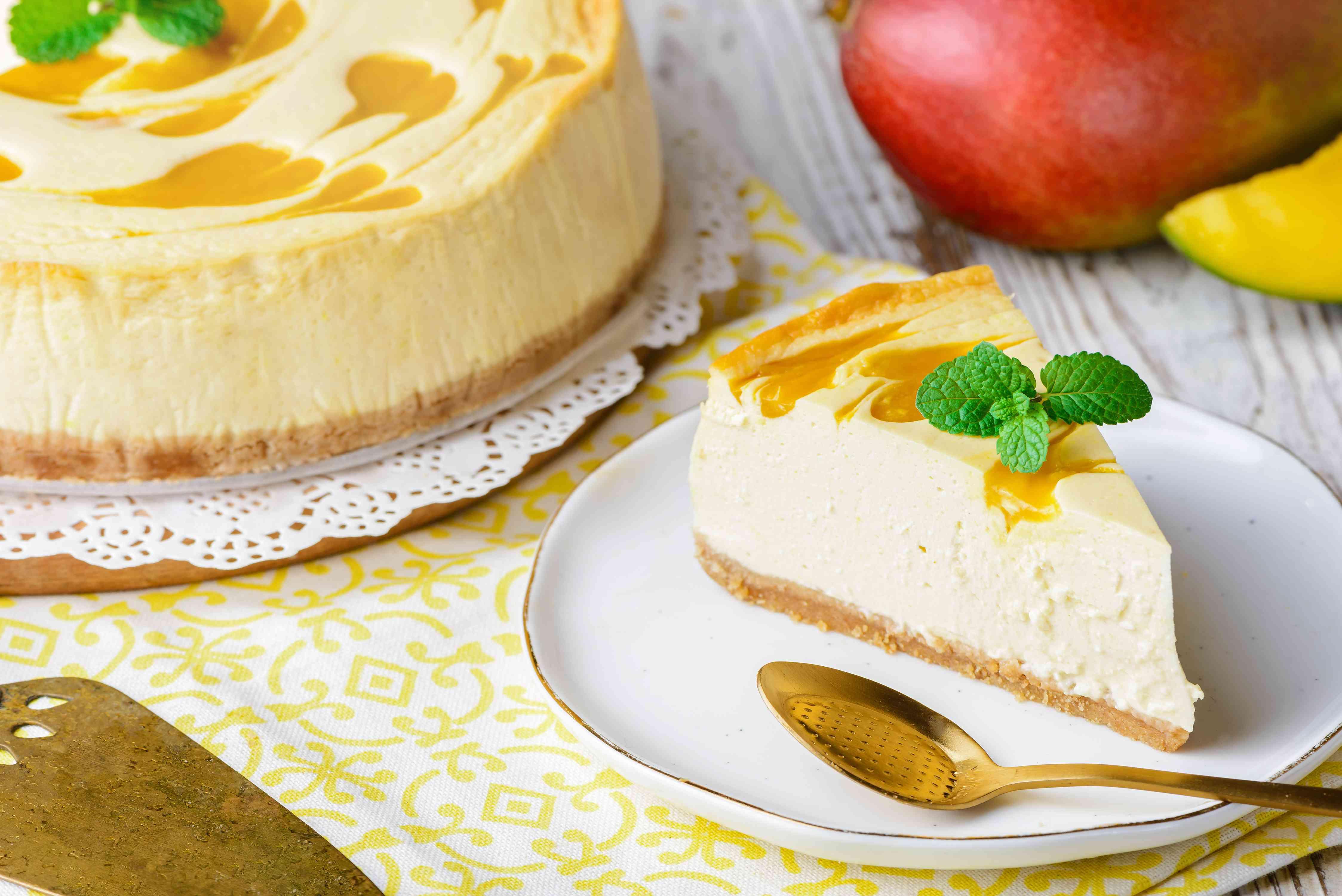 Mango swirl cheesecake recipe