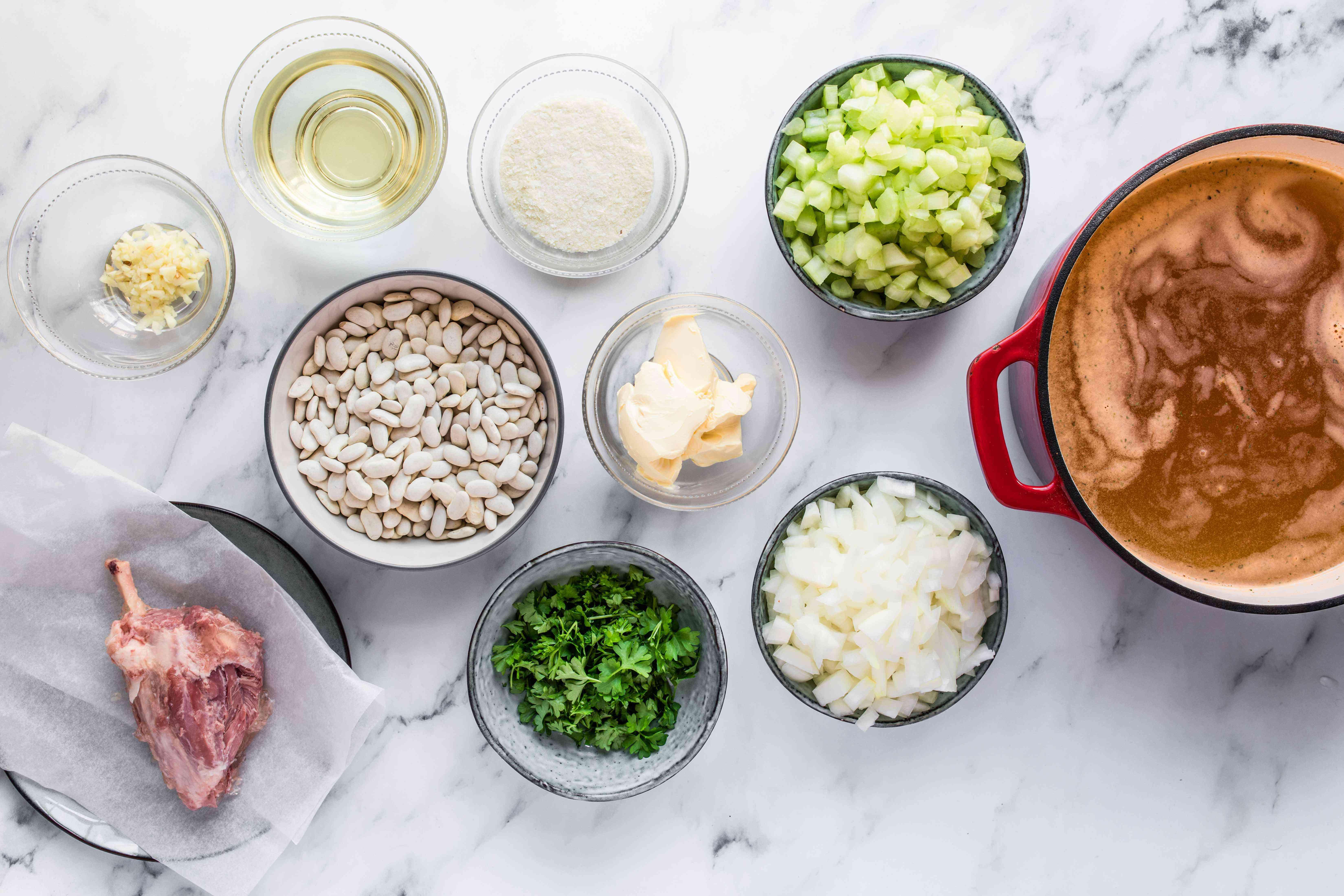 Ingredients for senate bean soup