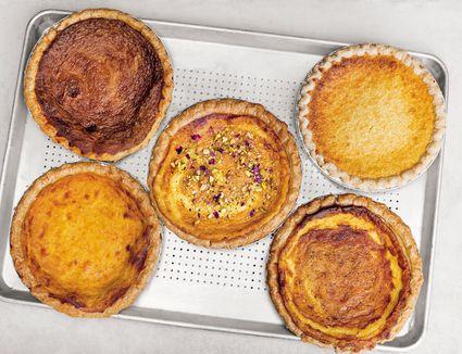 varietie of pies from