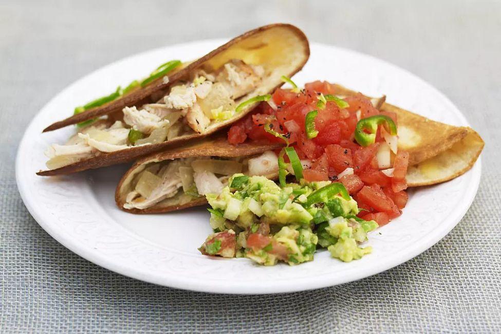 Easy Cheesy Chicken Quesadillas