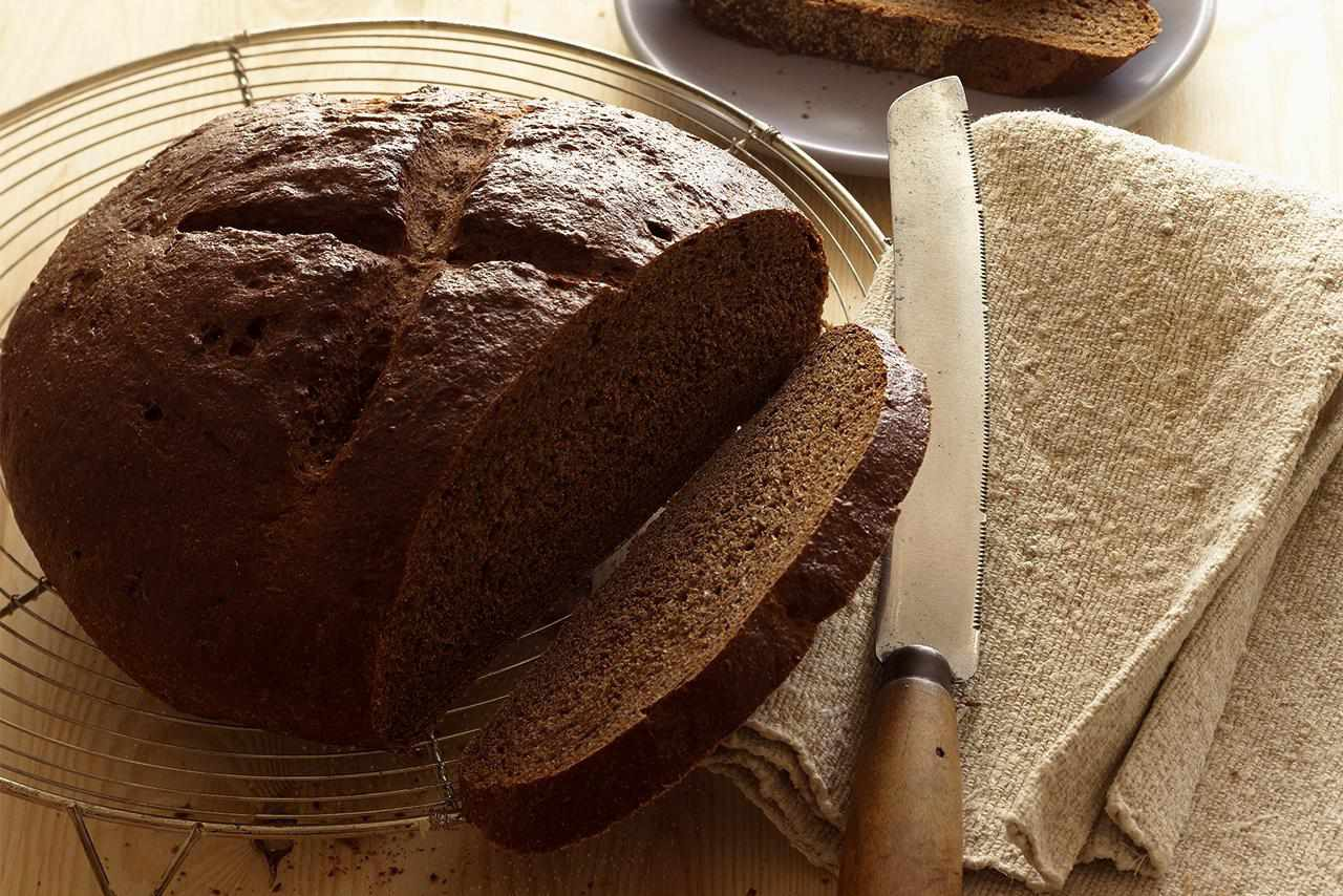 Rye Bread on Cooling Rack