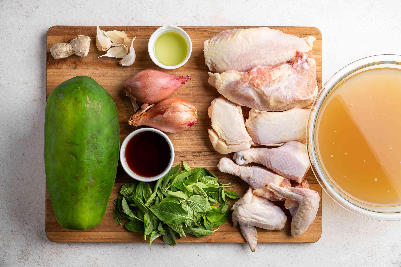 Gingered Chicken Tinola and Green Papaya Soup Recipe ingredients