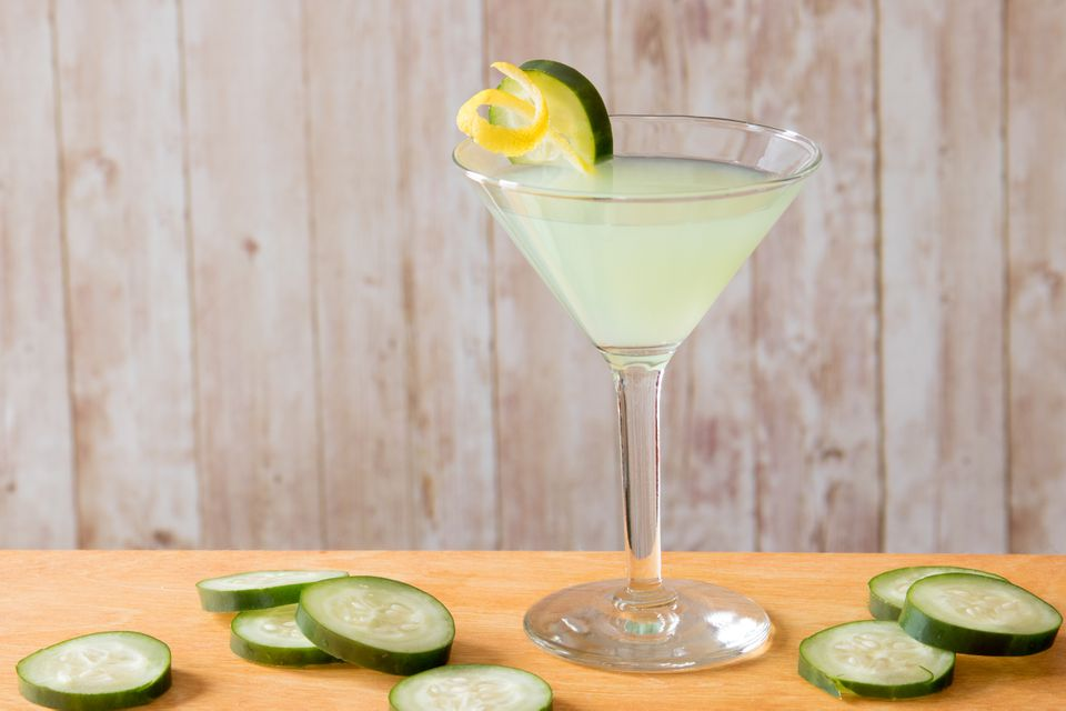 Melon Cucumber-tini Cocktail