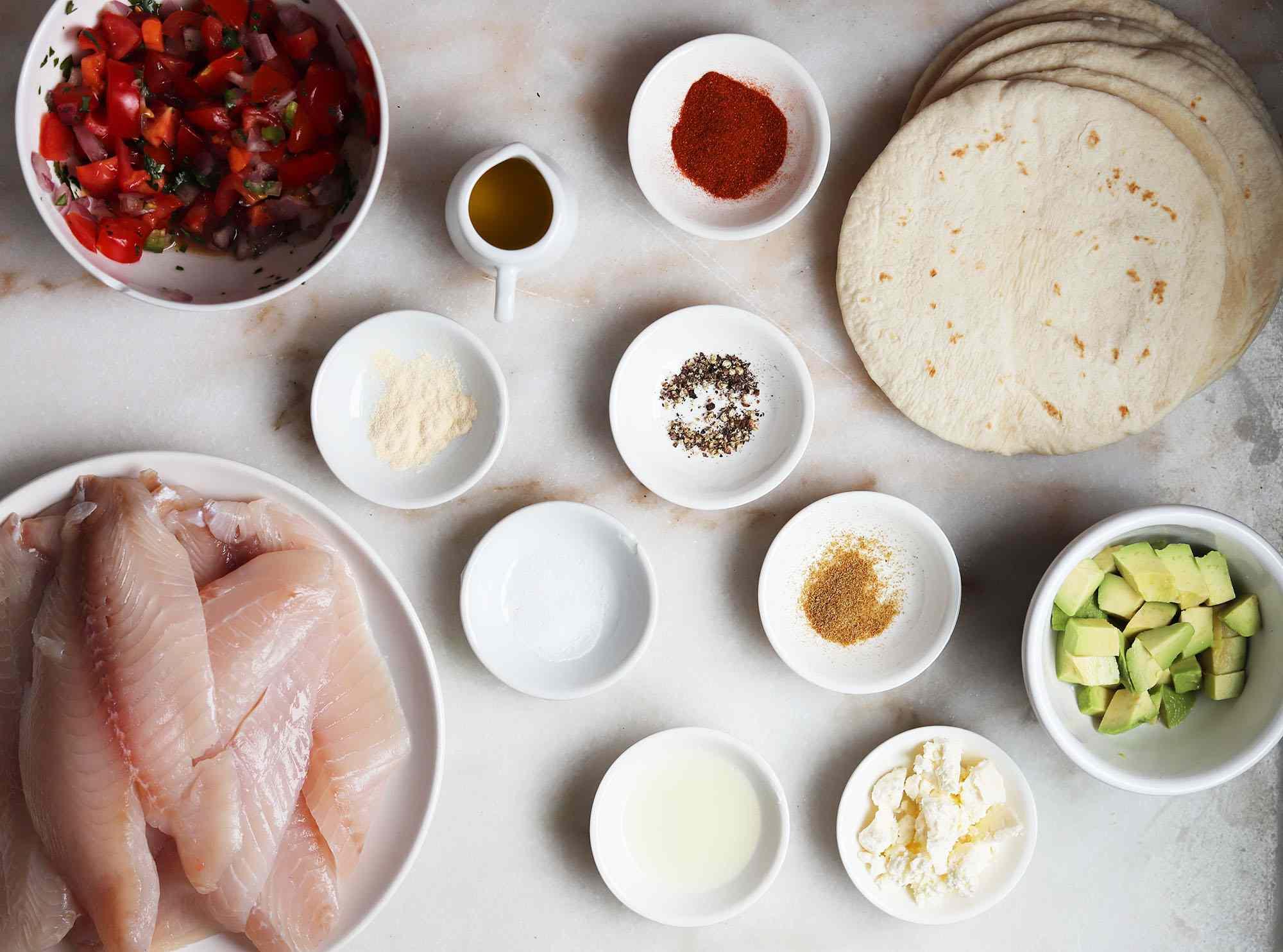 tilapia fish taco ingredients
