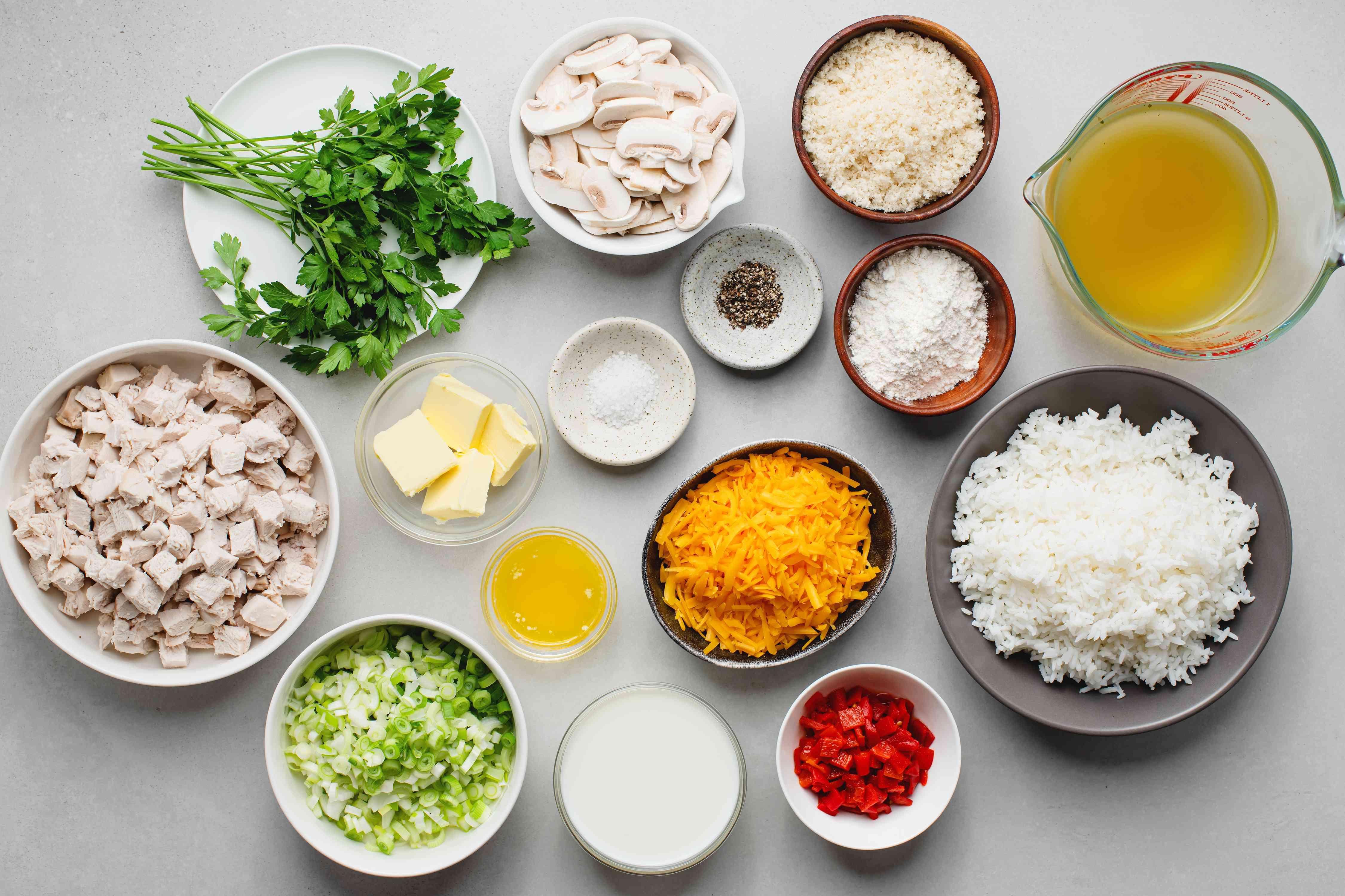 Cheddar Chicken and Rice Casserole ingredients