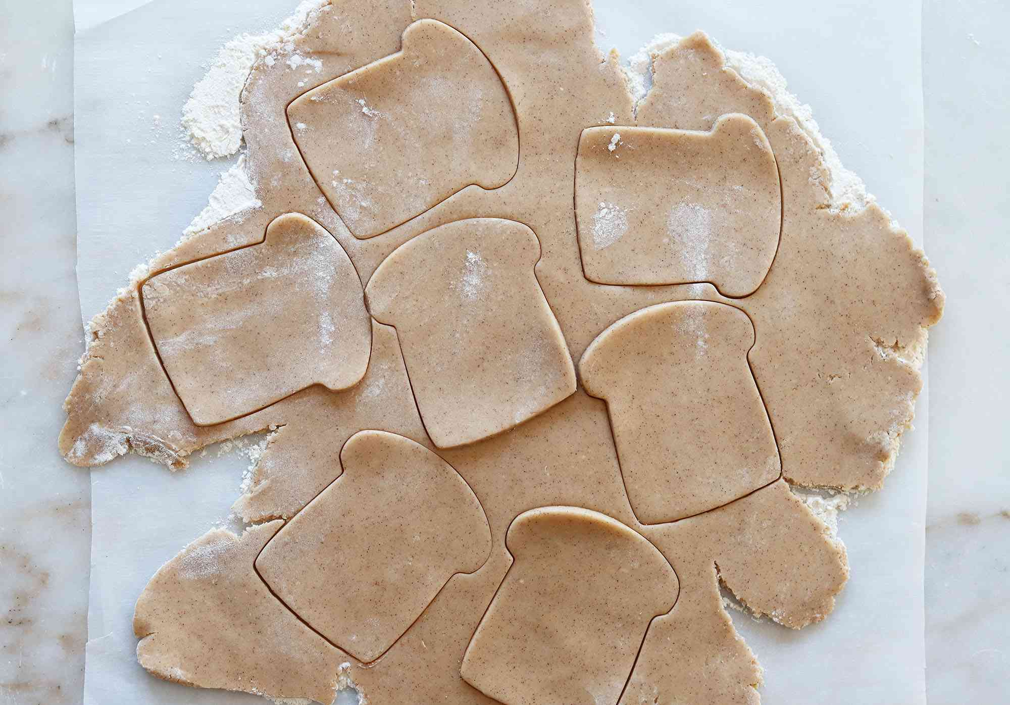 french toast cookies cut out