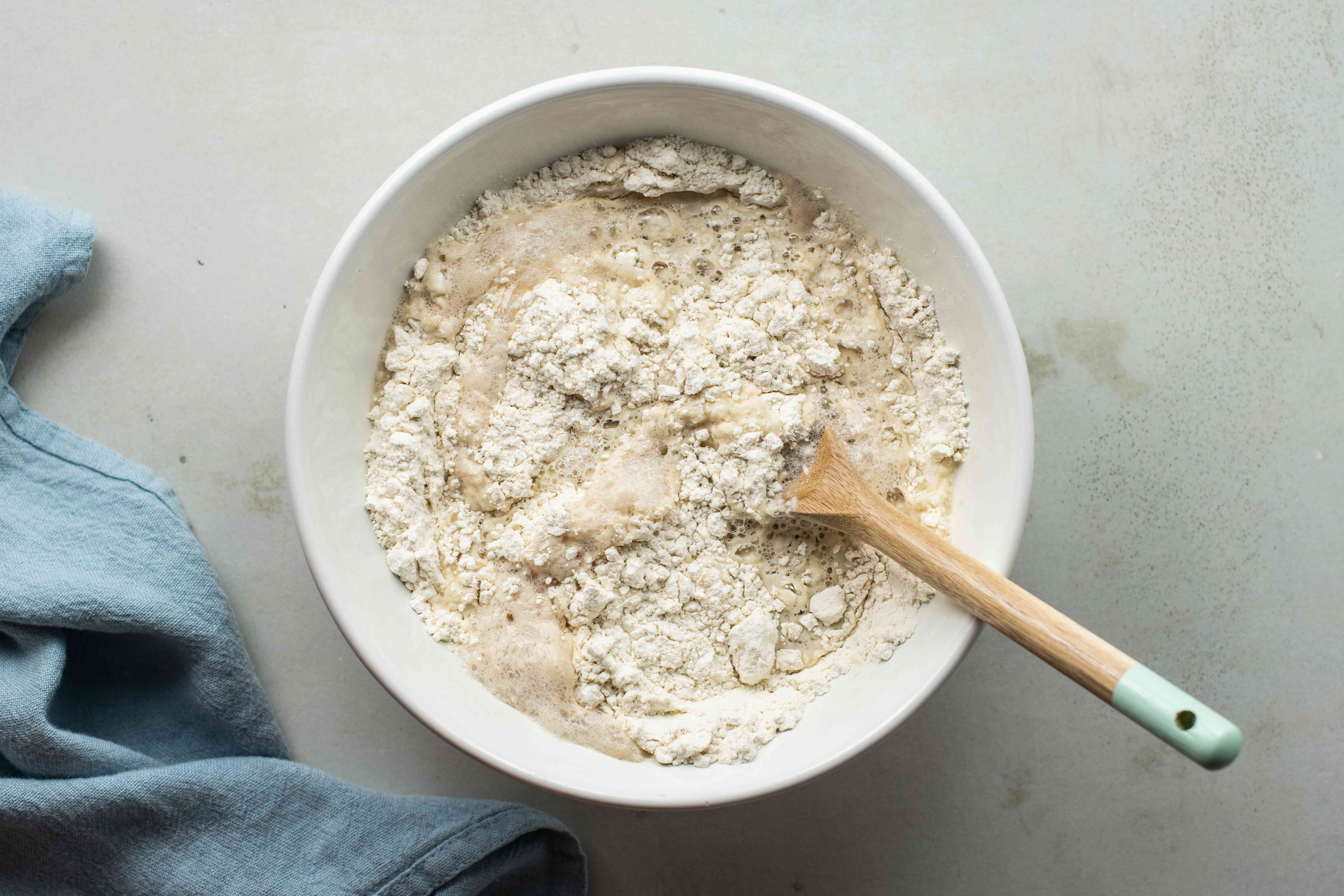 Place flour in bowl