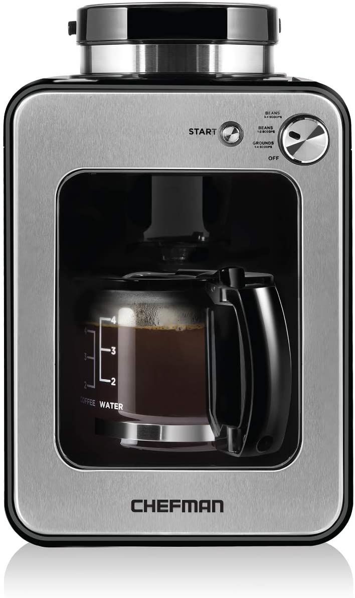 Chefman Grind and Brew 4-Cup Coffee Maker
