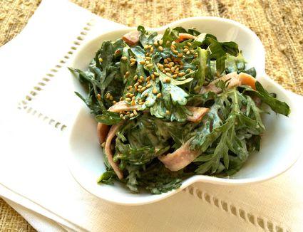 Shungiku Ham Goma Mayo Salad