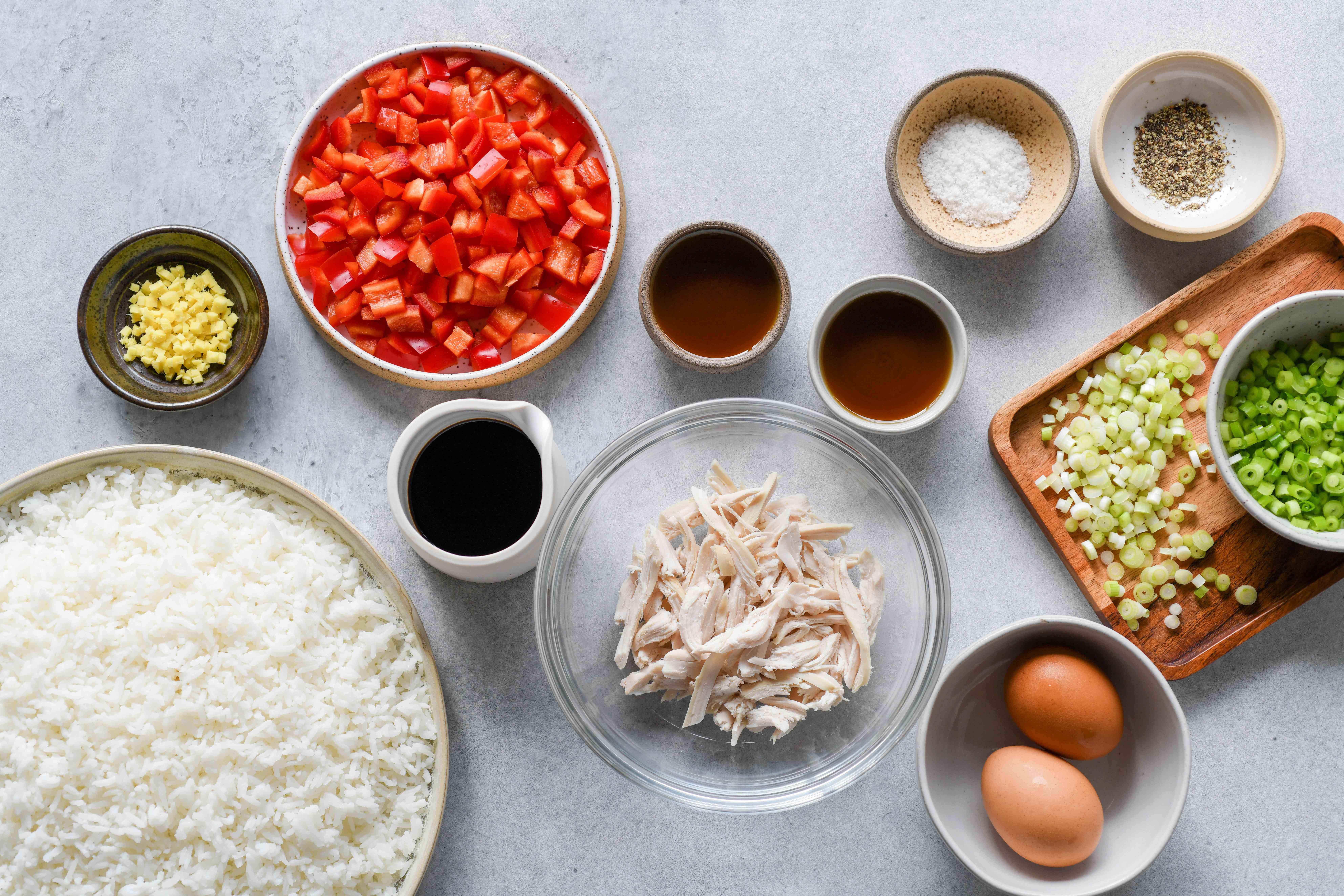 Chaufa Rice ingredients