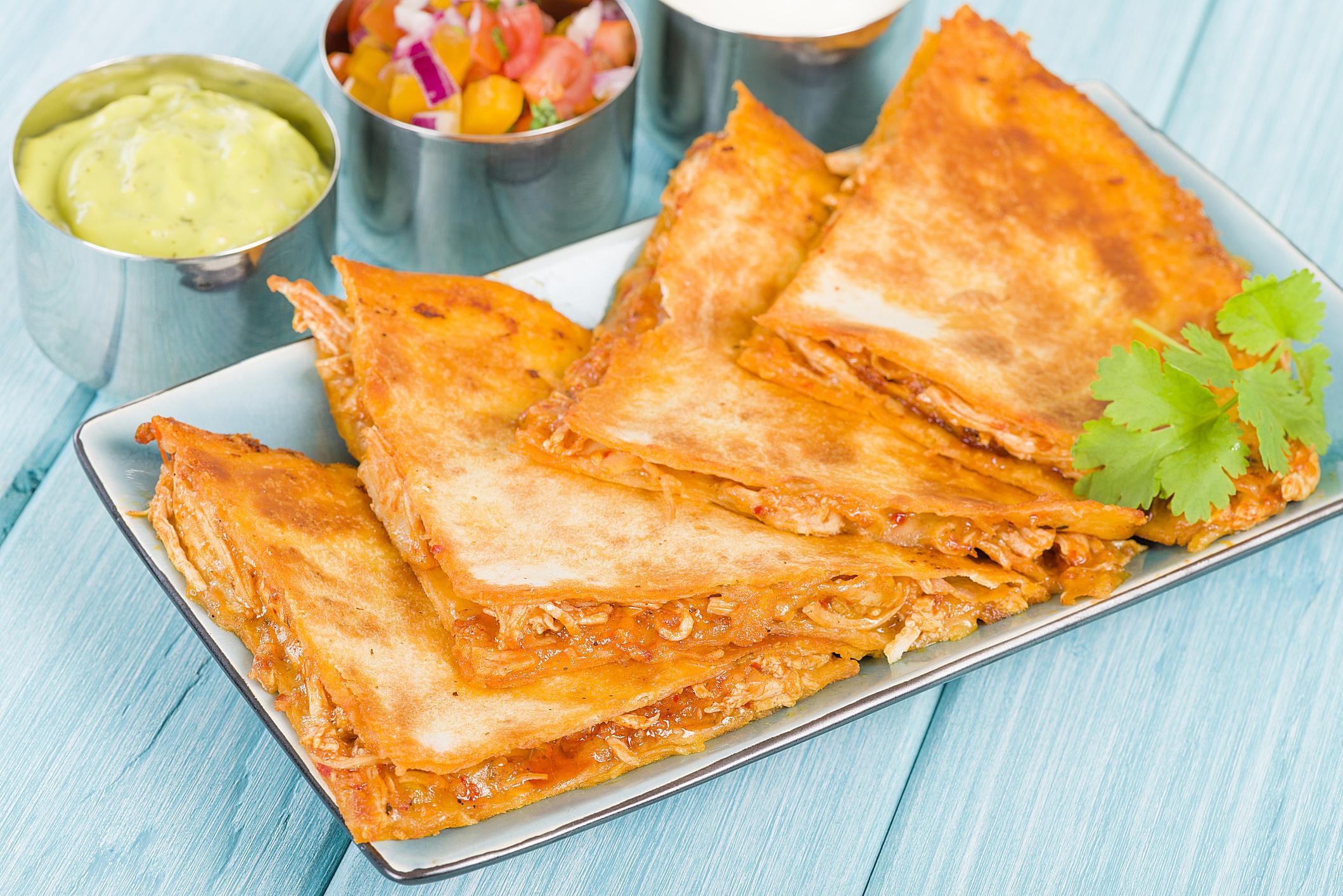 Masala Chicken Quesadilla Indian Style Recipe
