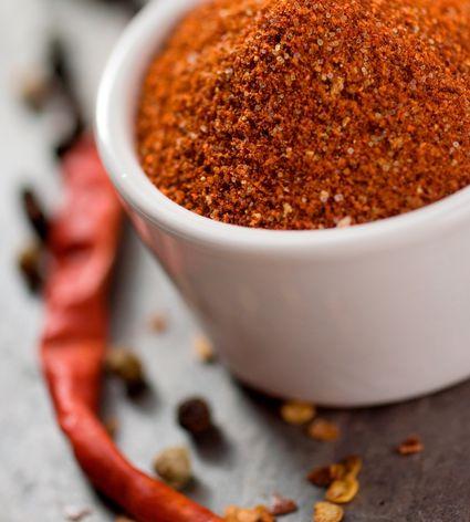Closeup on a rich colorful spice rub