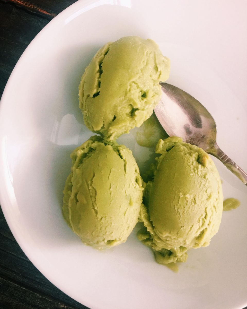 Avocado green tea ice cream