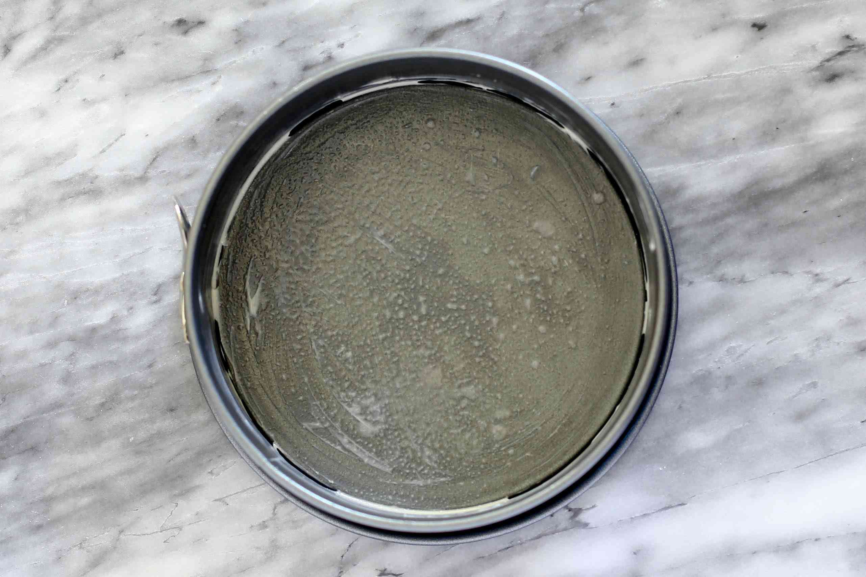 buttered springform pan