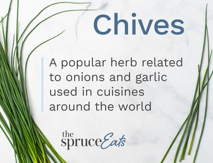 Illustration explaining what chives are