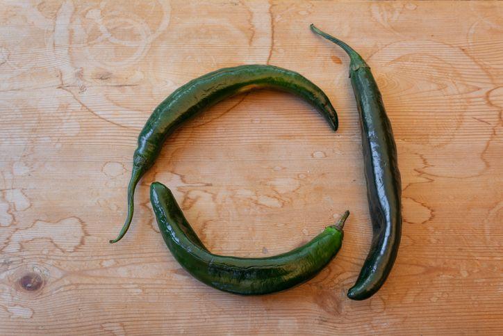 Three chilaca peppers