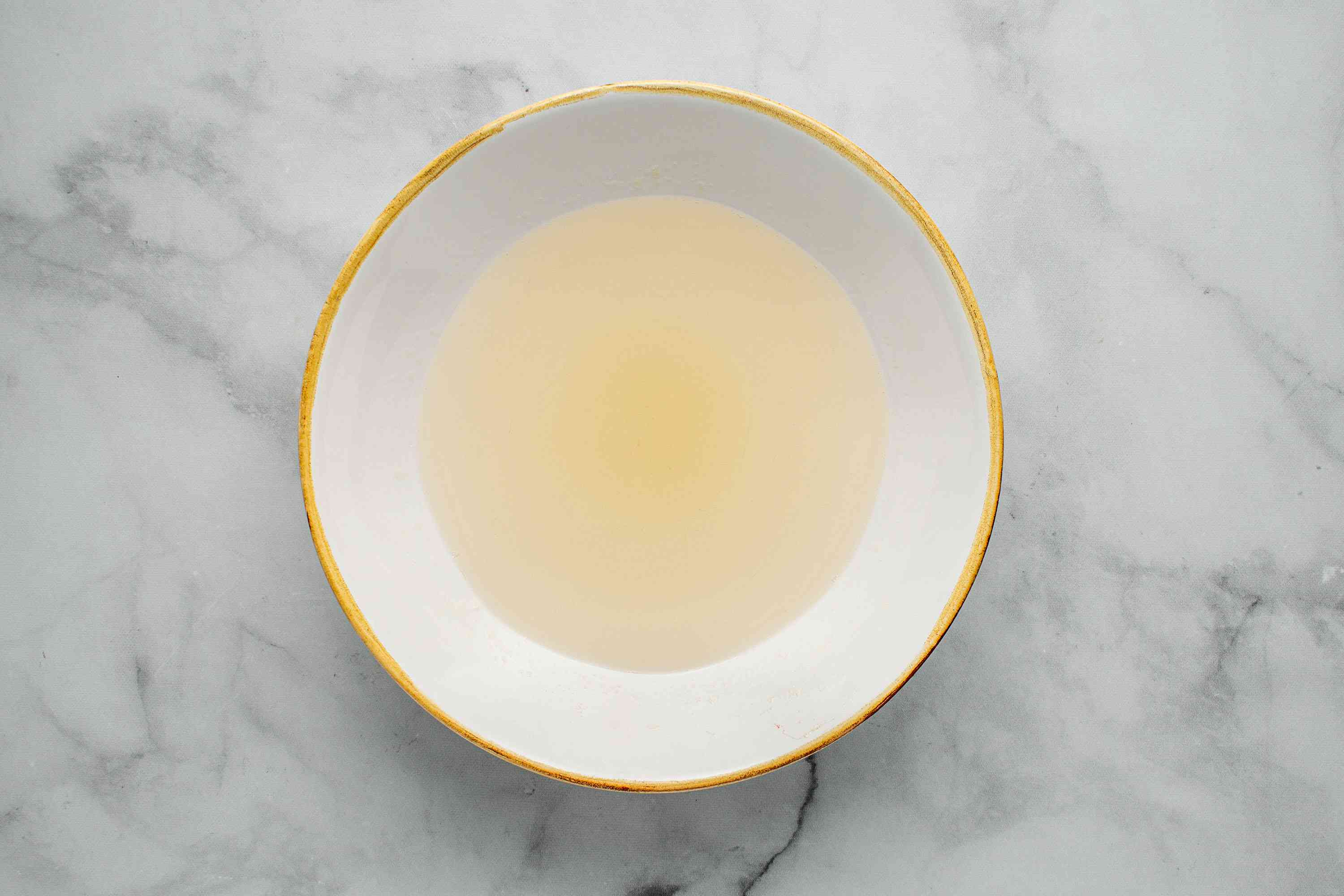 gelatin and water mixture in a bowl