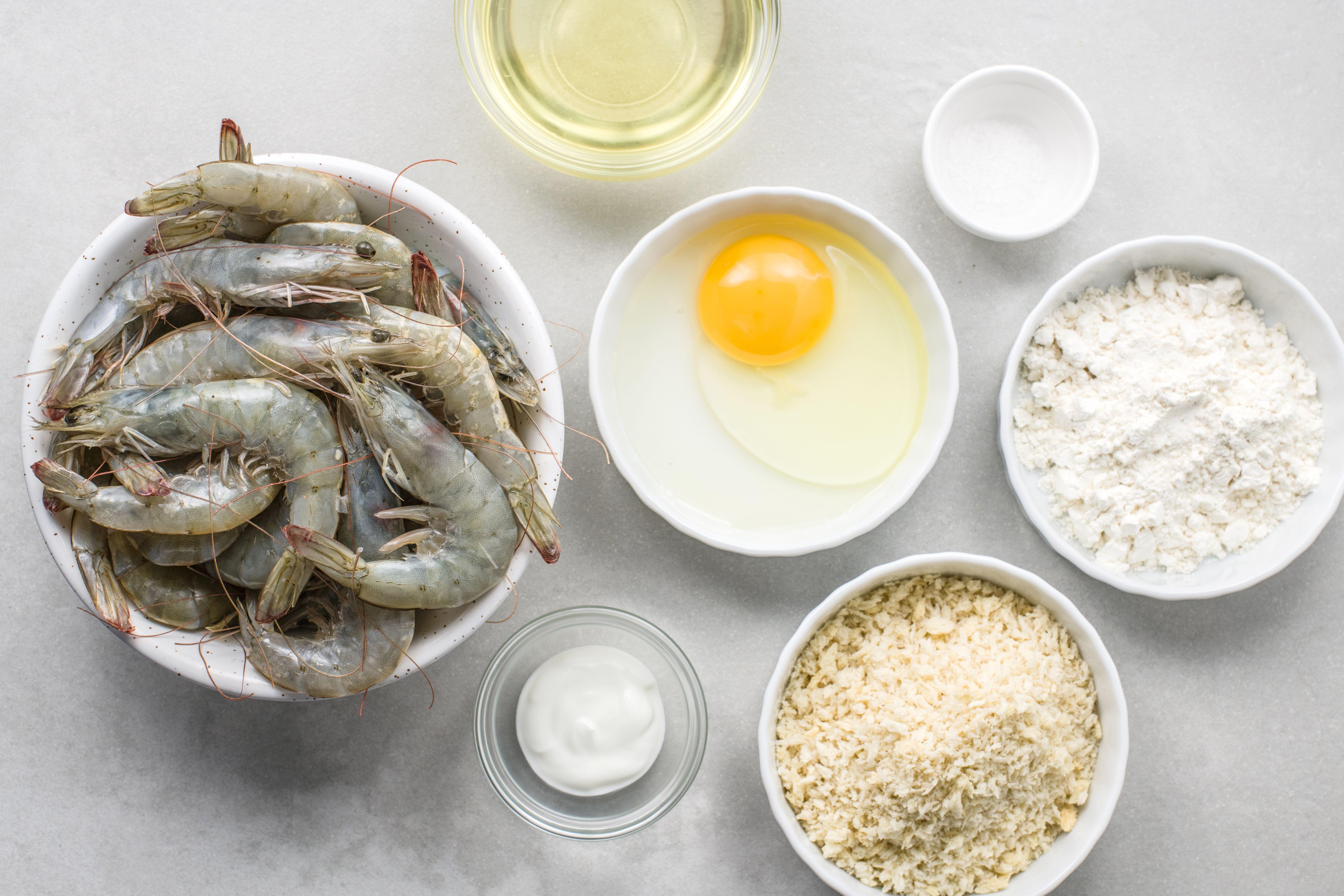 Panko-Fried Shrimp Recipe ingredients
