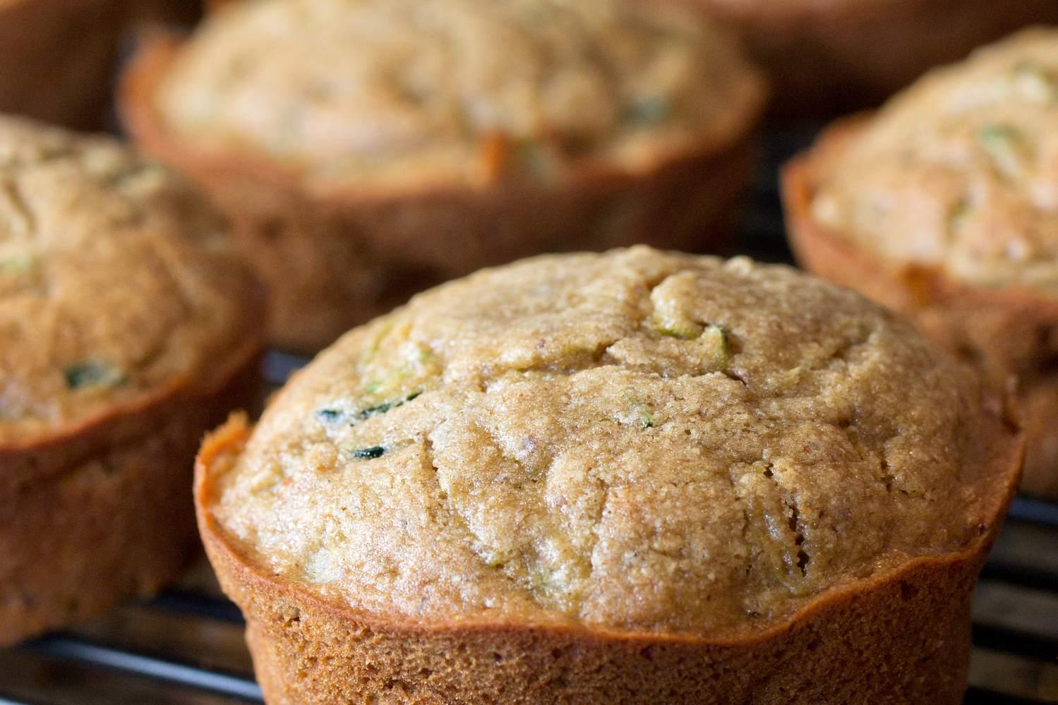 Vegan weight watchers zucchini lemon muffins