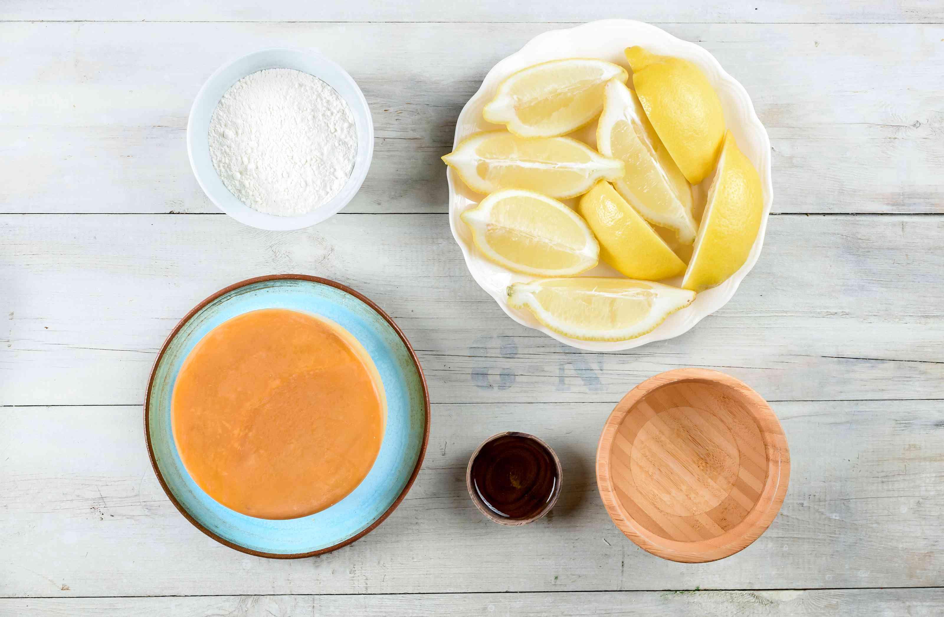 Ingredients for saganaki