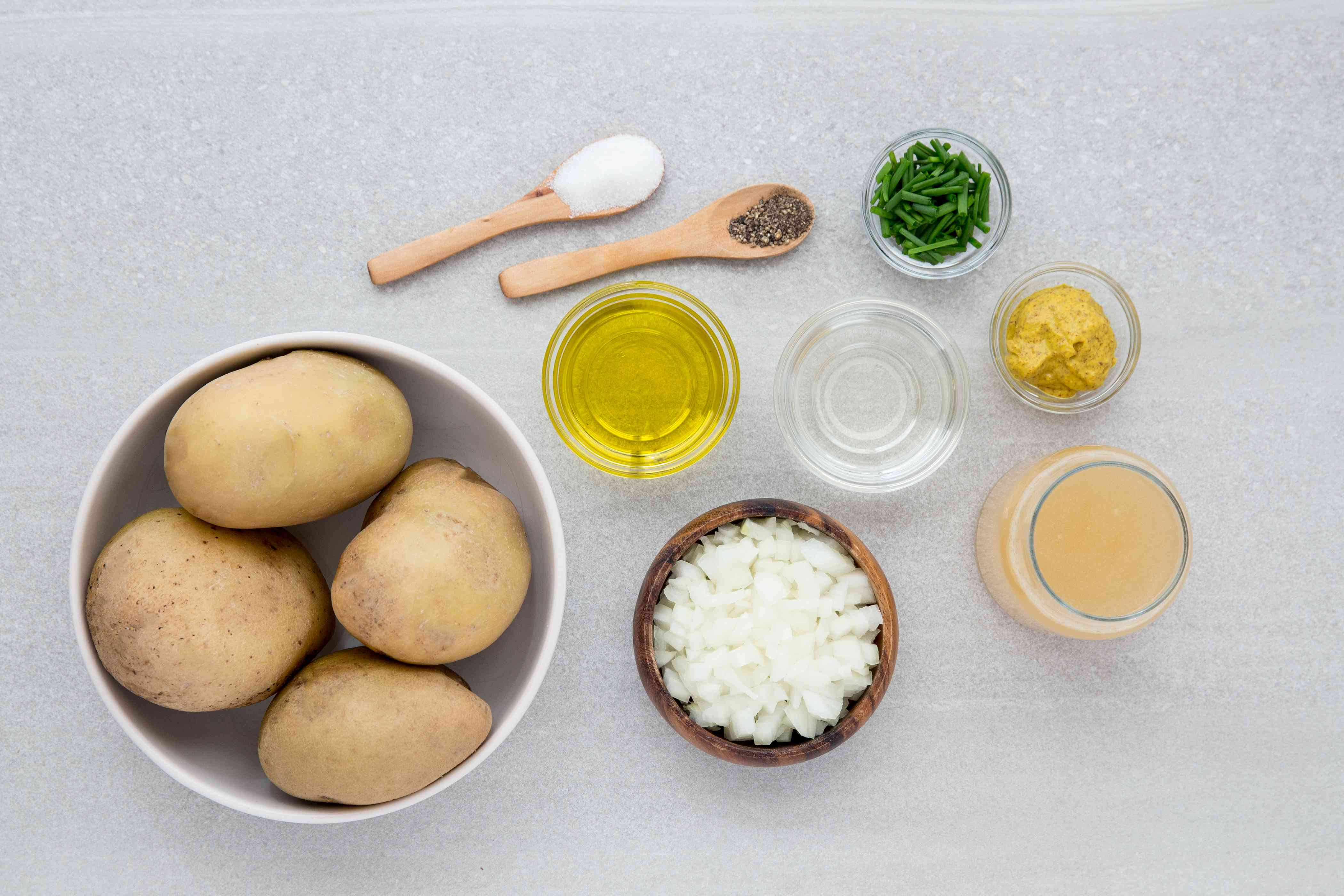 Gather the ingredients German Salad