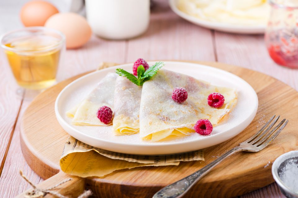 Homemade crepes pareve