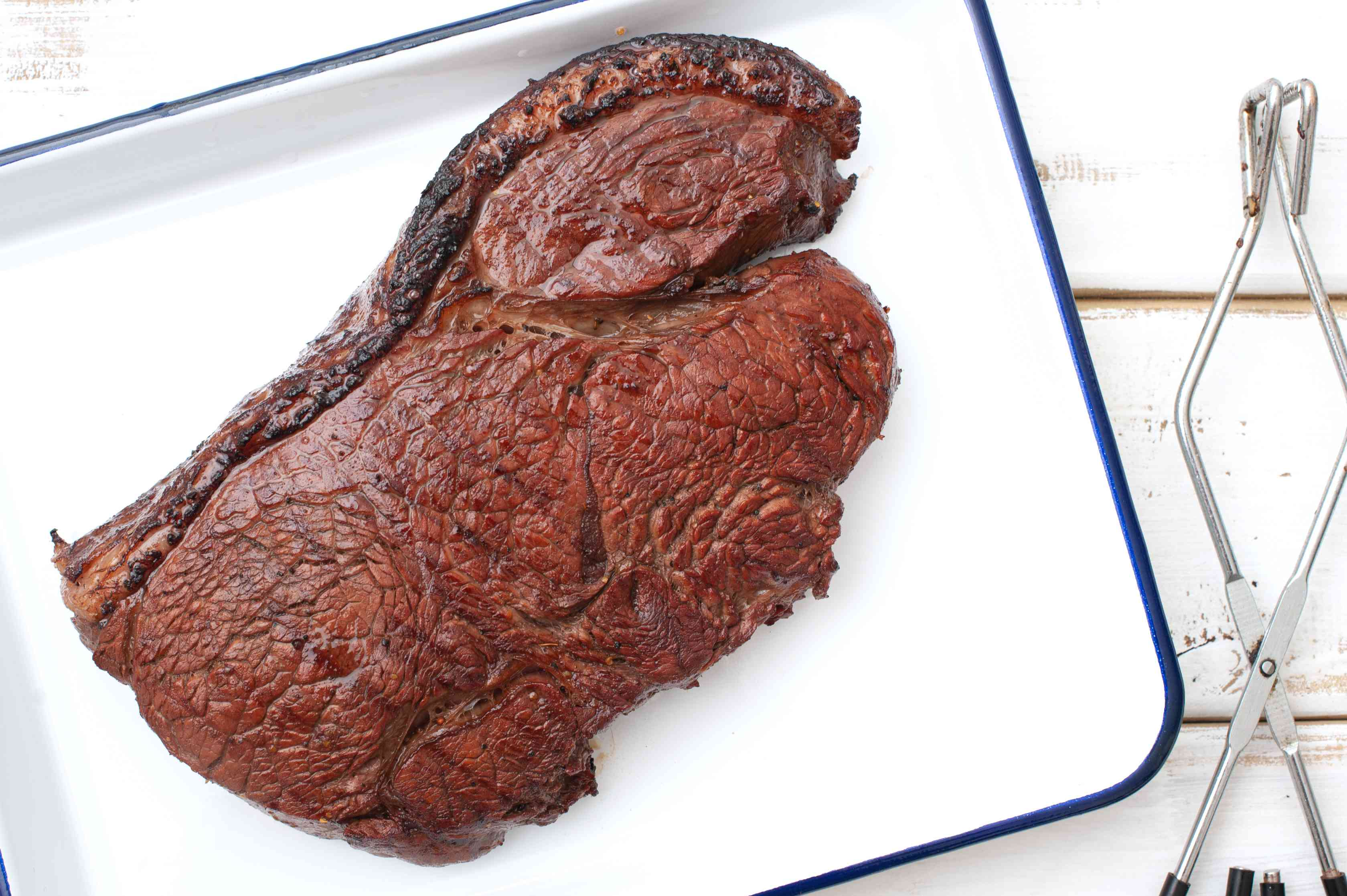 Remove steak from grill and let rest