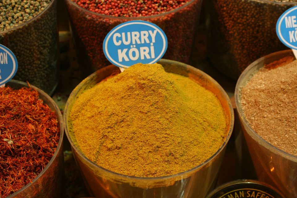Curry powder at an open-air market