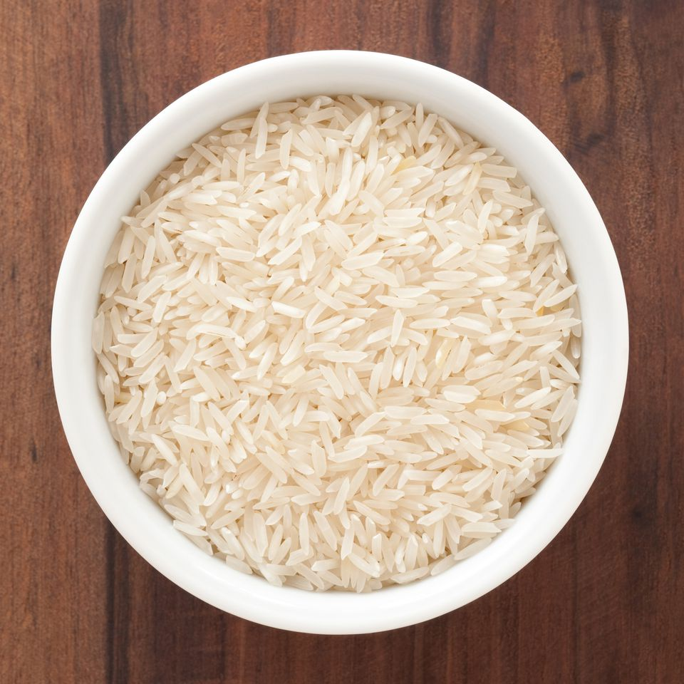 A bowl of Basmati rice