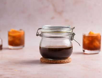 Homemade Brown Sugar Spiced Simple Syrup
