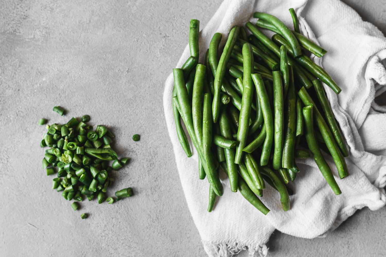 Wash green beans