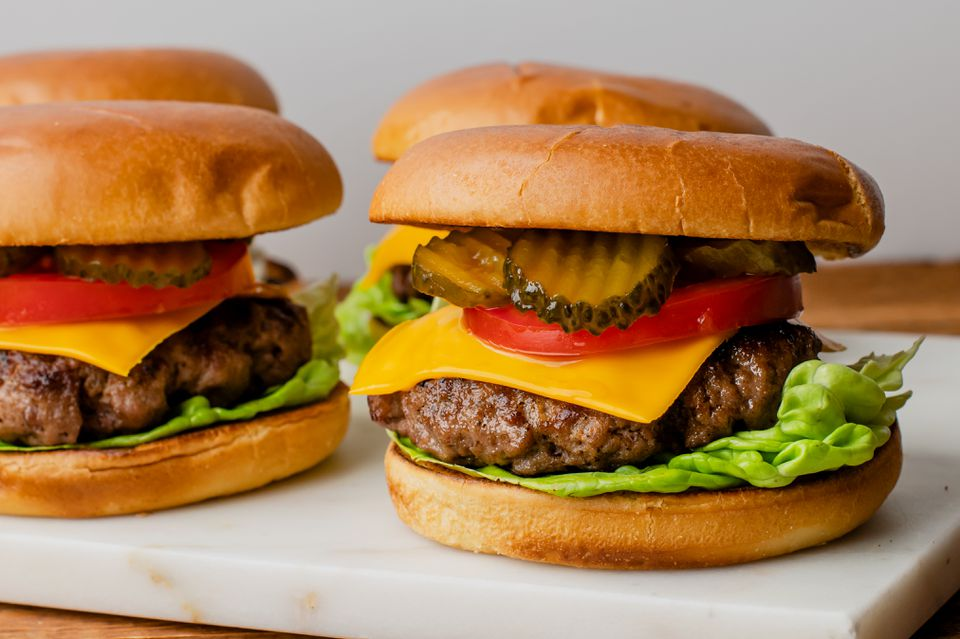 Juicy baked burgers recipe
