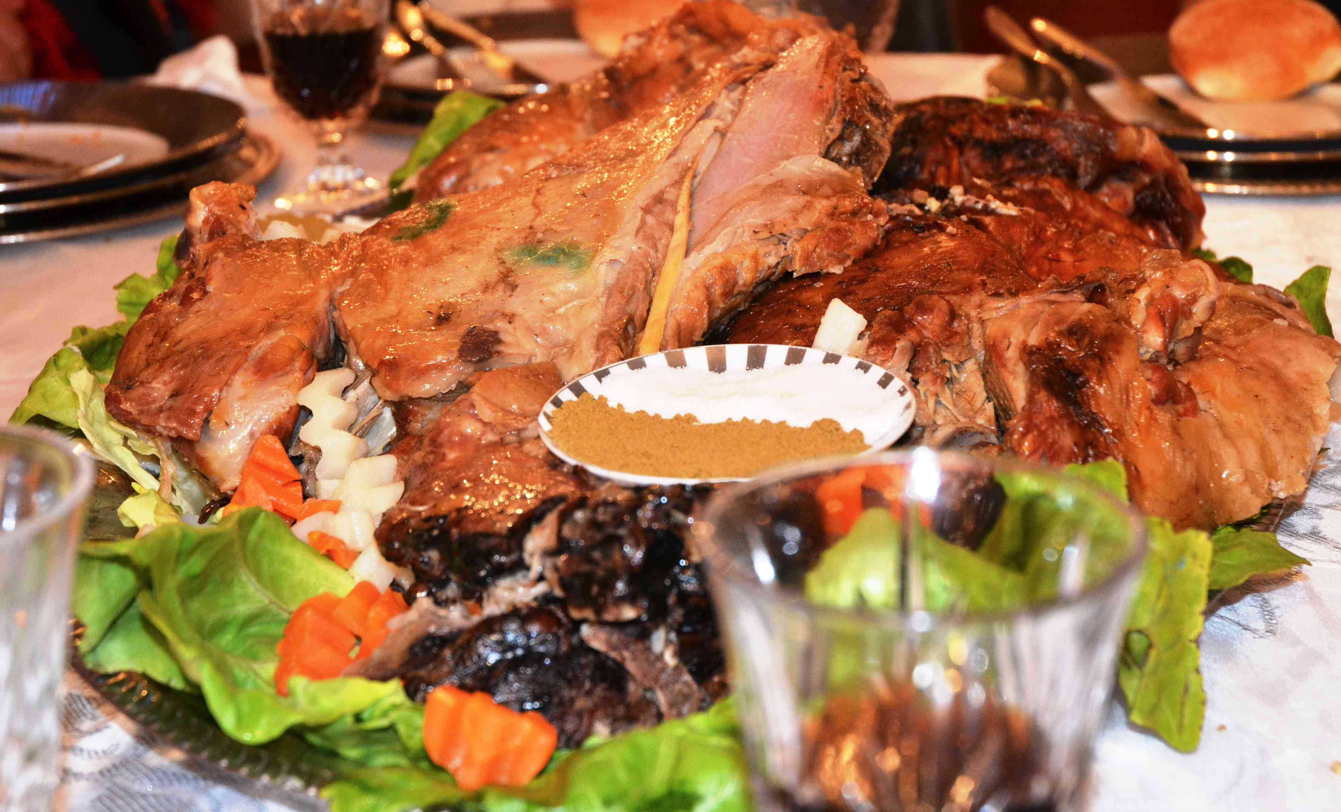 Moroccan mechoui: roasted lamb