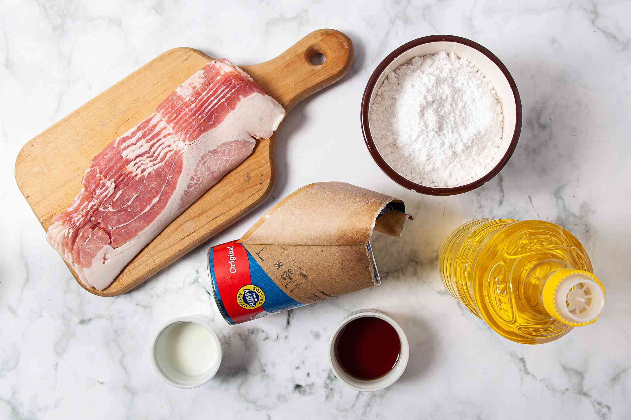 Maple Bacon Donut ingredients